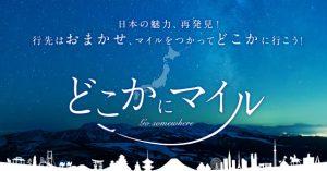 JALの「どこかにマイル」とは?往復6000マイルで日本のどこかにいける国内線特典航空券と交換できる!