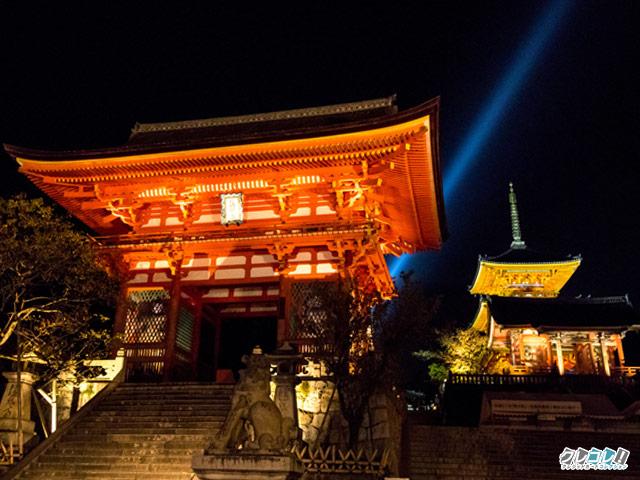 京都・清水寺の夜間特別拝観