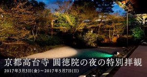 圓徳院がライトアップ!2017年の春の夜間特別拝観の紹介/写真20枚